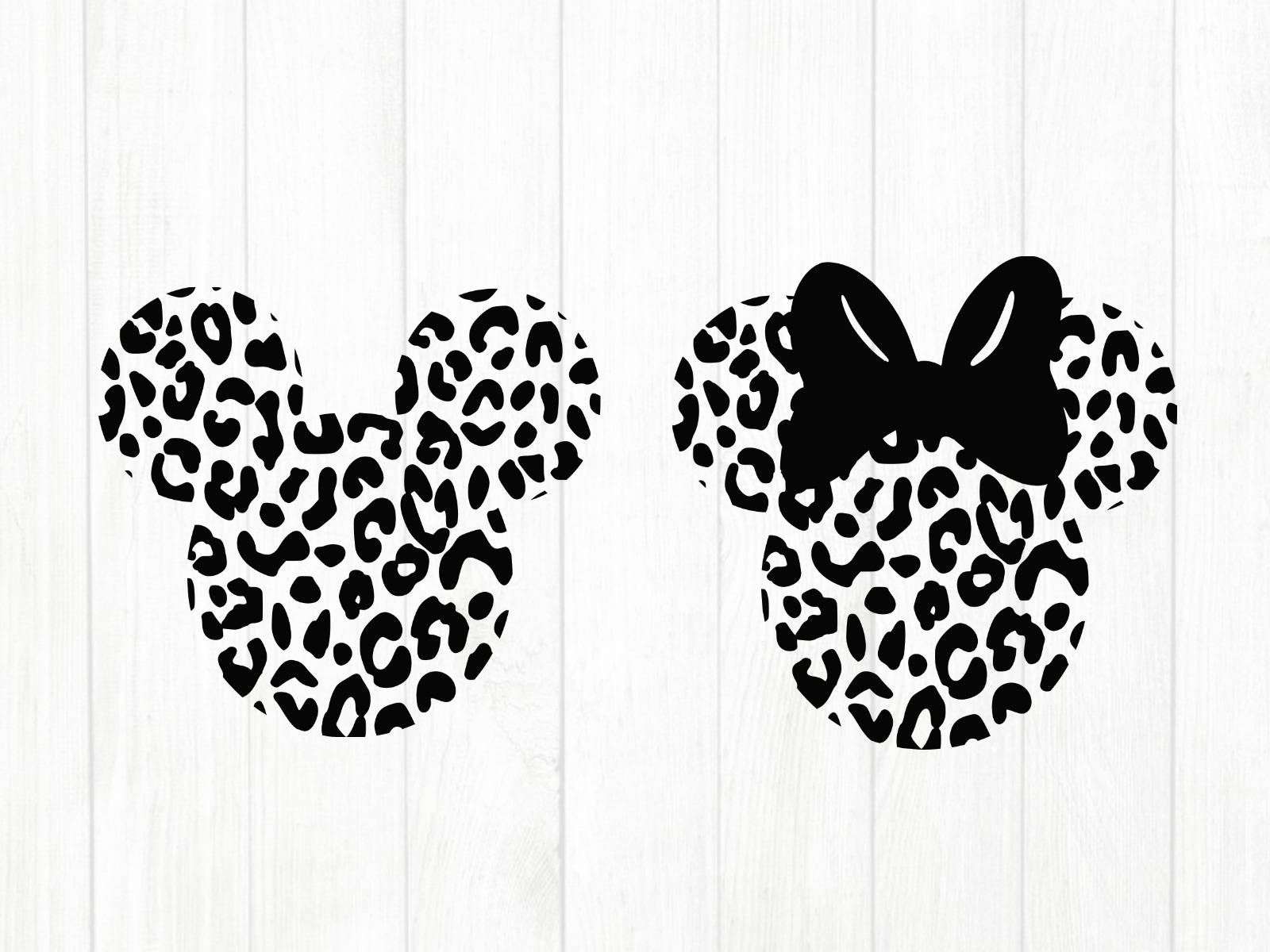 Disney mickey mouse cheetah leopard print svg, png