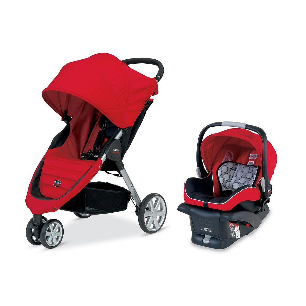 Britax B Agile Travel System Stroller Red Britax Babies R Us Britax Stroller Baby Strollers Travel System Stroller