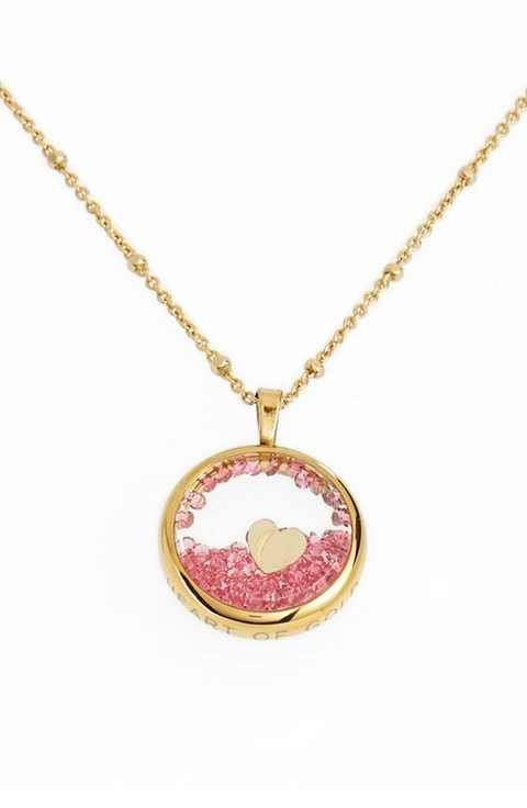 kate spade new york 'shake things up' heart pendant necklace