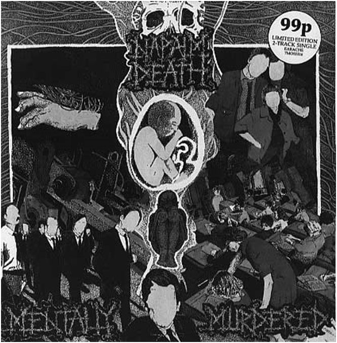 Napalm Death Mentally Murdered Single Cover 1989