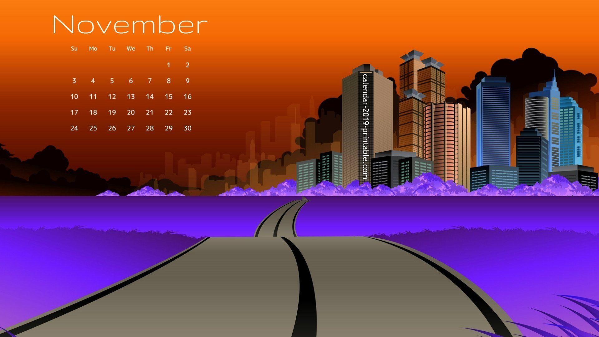 November 2019 Stylish Calendar Wallpaper Calendar 2019