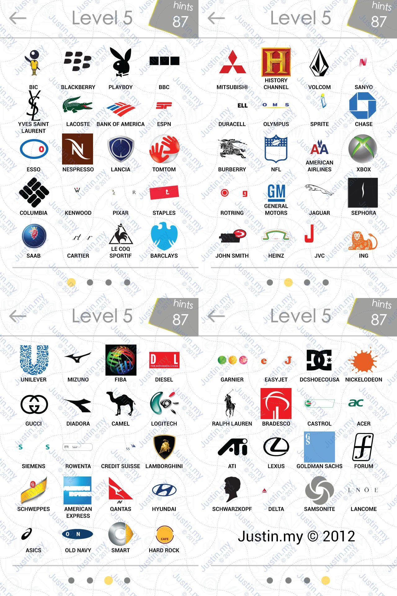 logos quiz answers page 5 justin my Logo quiz, Logo quiz