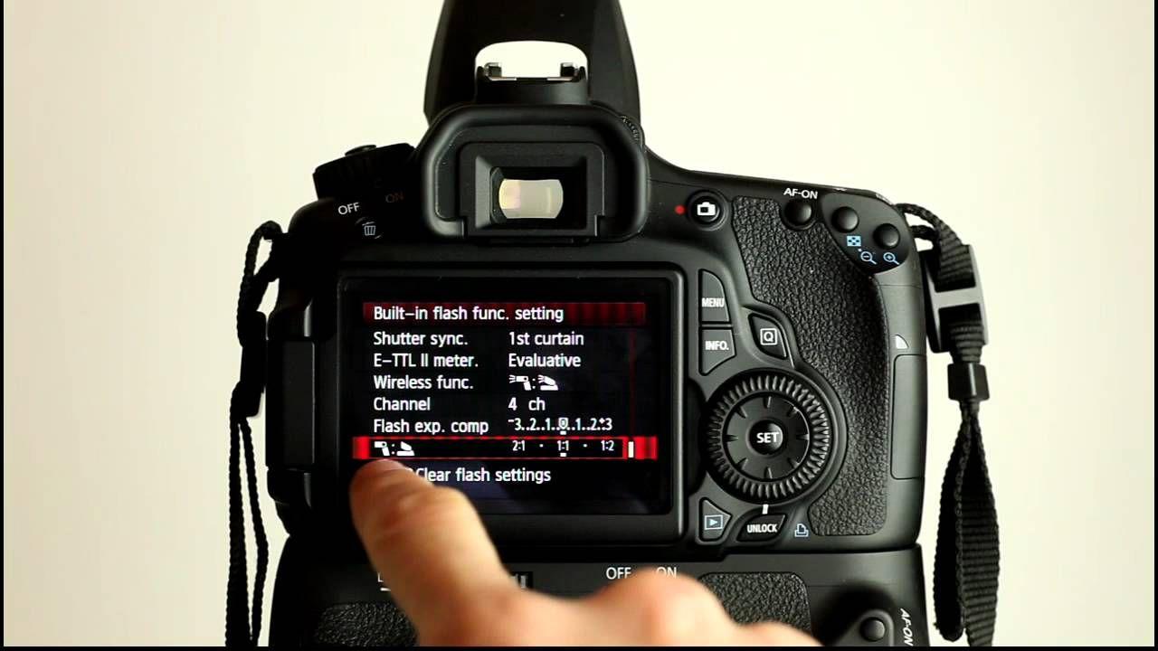 Canon Eos 60d Tutorial Video 3 Part 1 Flash Control Menu Dslr Camera Canon Eos Camera Equipment