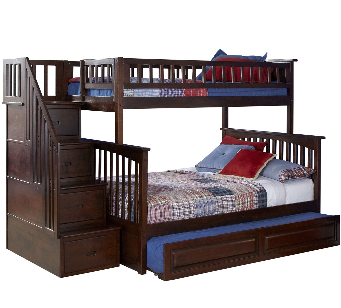 Loft bed with storage stairs  Staircase Bunk Bed Twin With Drawers And Pillow  Bunk Bed