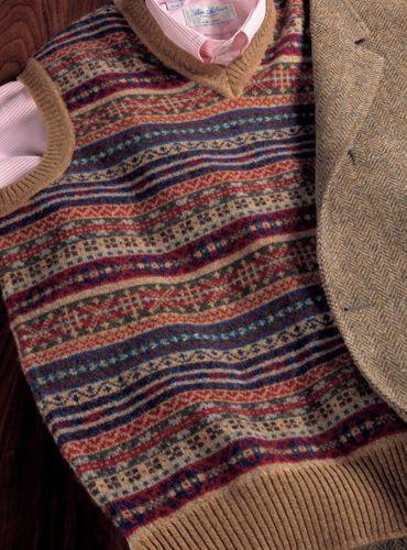 Lambswool Fair Isle Sweater Vest in Sable | 2017 Men's Fall ...