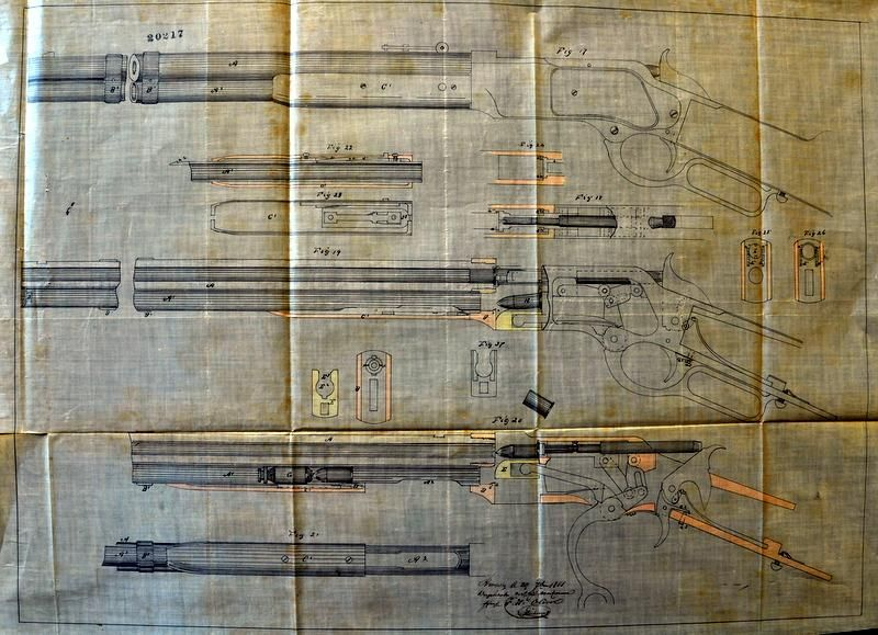 Here the drawings of the Belgian Patent for the Winchester 1866. Courtesy of Alantrigger.