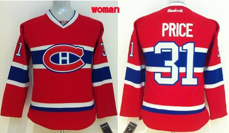 Women Montreal Canadiens  31 Carey Price Red Jersey.  9cbe53e4c3