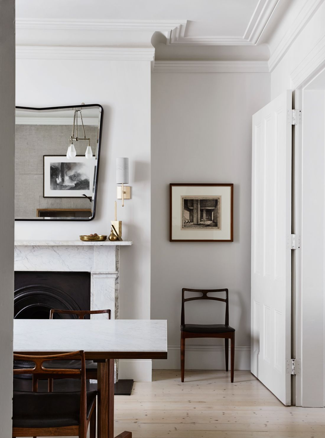 Dining Room In A Historical Townhouse Tenovation By Templeton Architecture