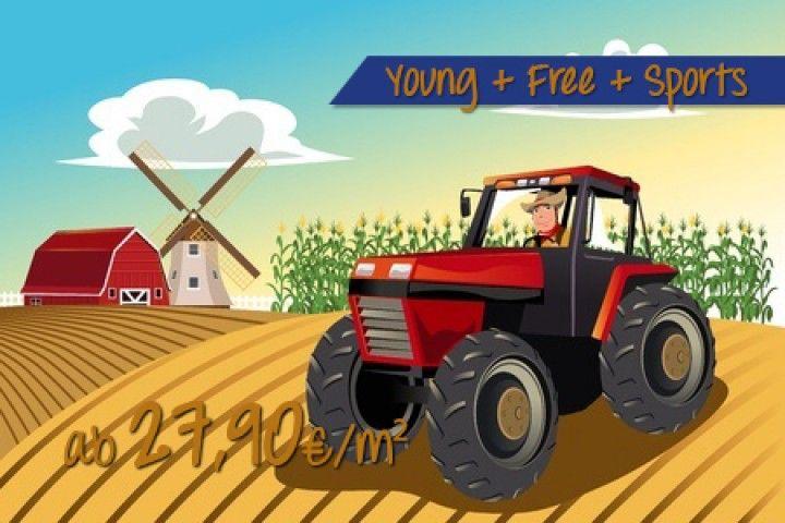 Fototapete kinderzimmer bauernhof  Roter Traktor | Kinderzimmer Ideen für Kinder | Pinterest ...