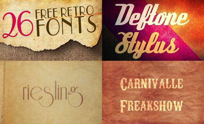26 Beautiful Free Retro Style Fonts - Download   Beautiful, Fonts ...