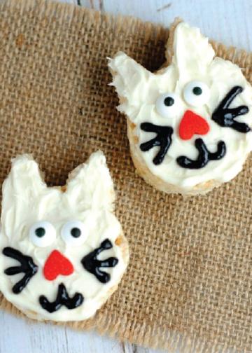 Homemade Crispy Marshmallow Kitties Homemade
