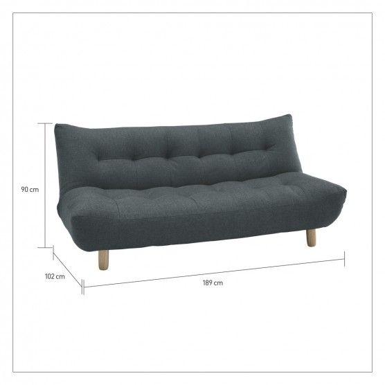 Kota Orange Fabric 2 Seater Sofa Bed Now At Habitat Uk