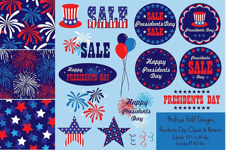 Presidents Day Graphics Patterns Presidents Day Clipart 4th Of July Clipart Presidents Day