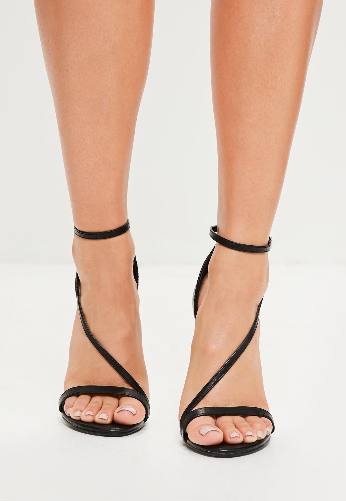 dcdb7dbffaa2b0 black asymmetric barely there heels
