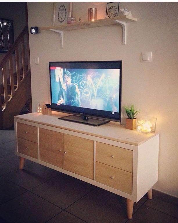meuble tv au style scandinave et pieds compas tagrekallax pieds compas leroymerlin - Meuble Tv Ikea En Pin