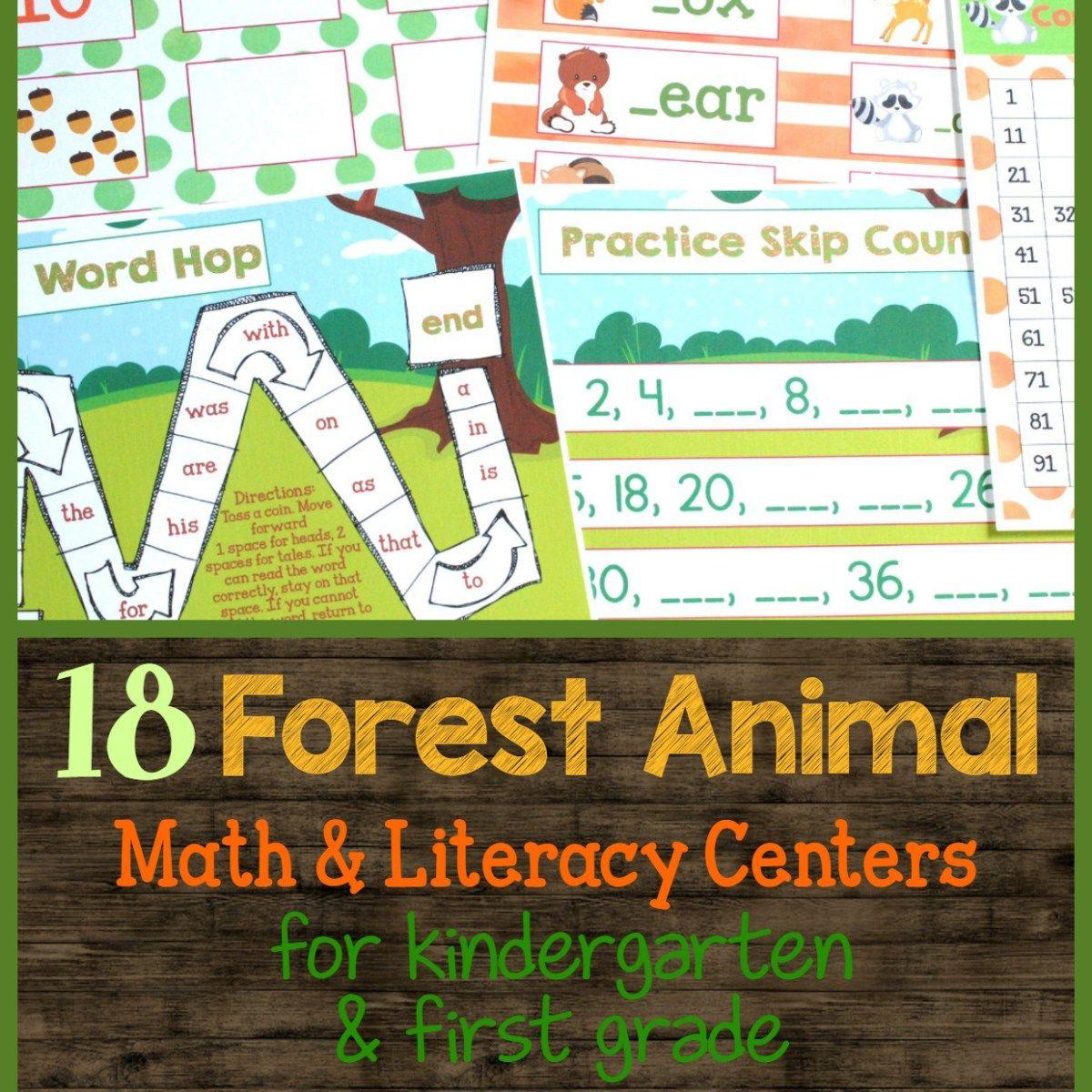 Forest Animals Math Amp Literacy Centers