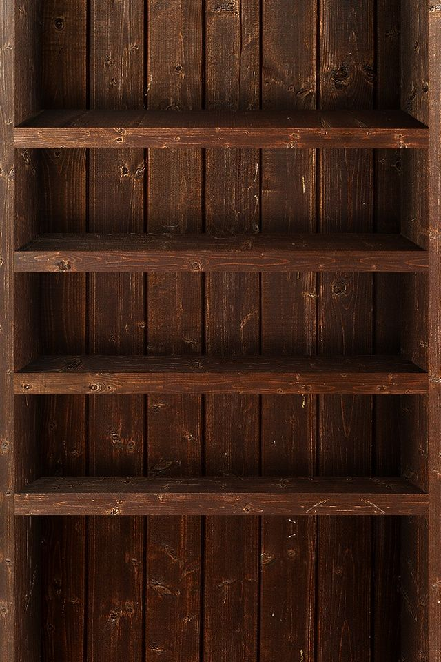 Tap And Get The Free App Shelves Wooden Boards Brown Simple