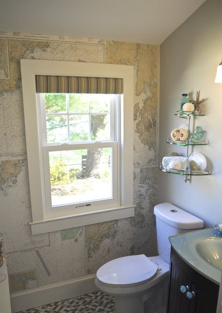 Elegant Powder Room Accent Wall Ideas