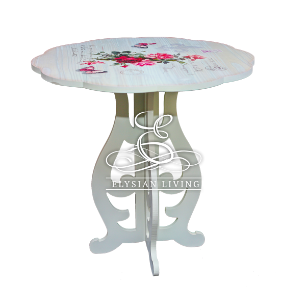Style Your Contemporary Home With This Country Style Side Table. With Its  Charming Floral