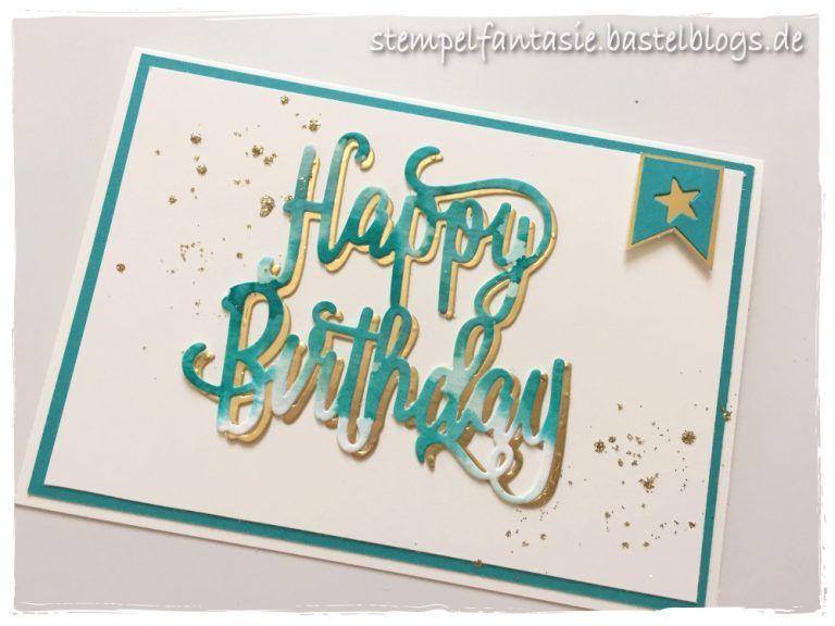 Geburtstagskarte Text 18.Aquarell Schriftzug Auf Geburtstagskarte Gender Neutral