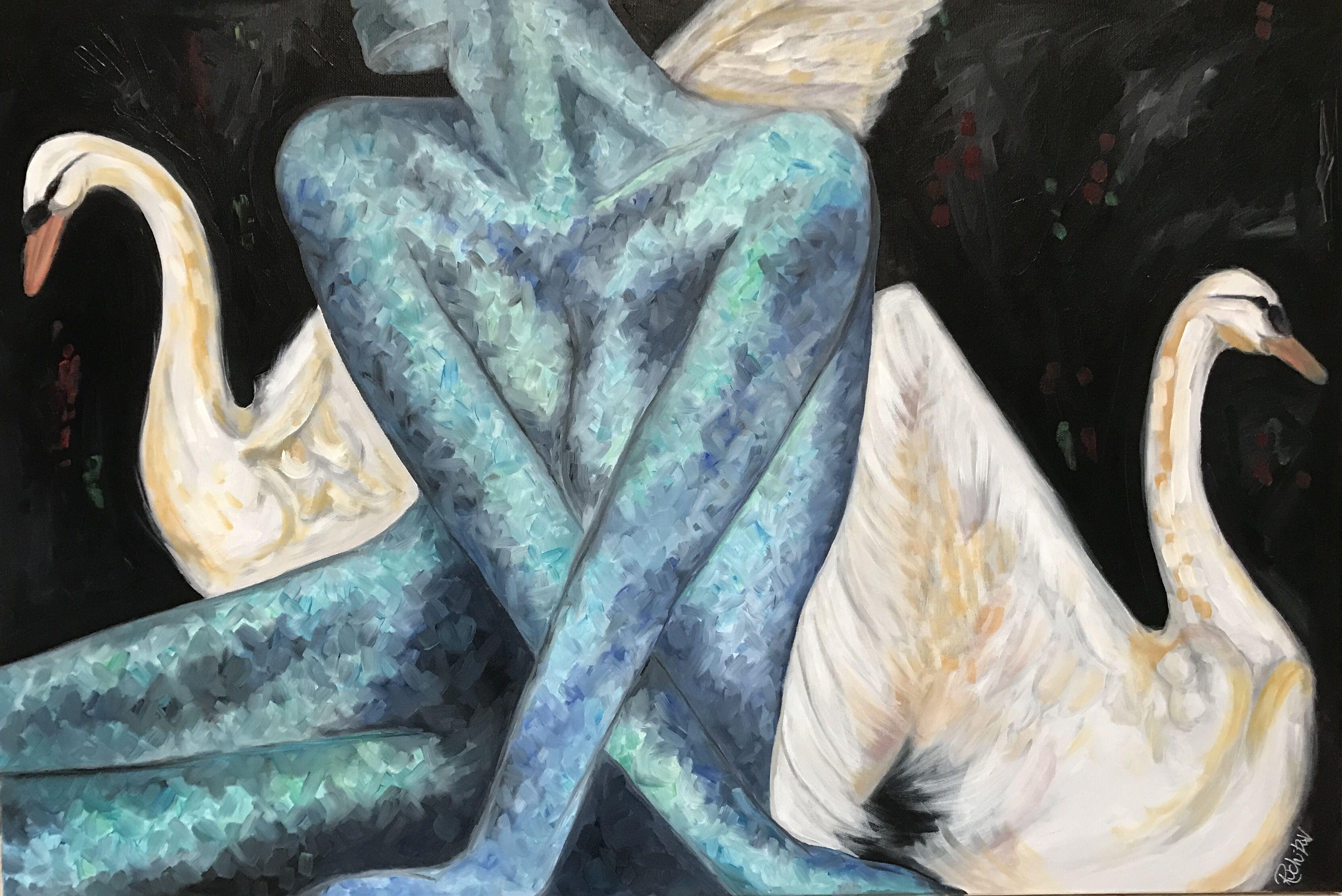 Ruchika Vaswani Art - Oil on Canvas  'Sweven' ; A Vision or a Dream.