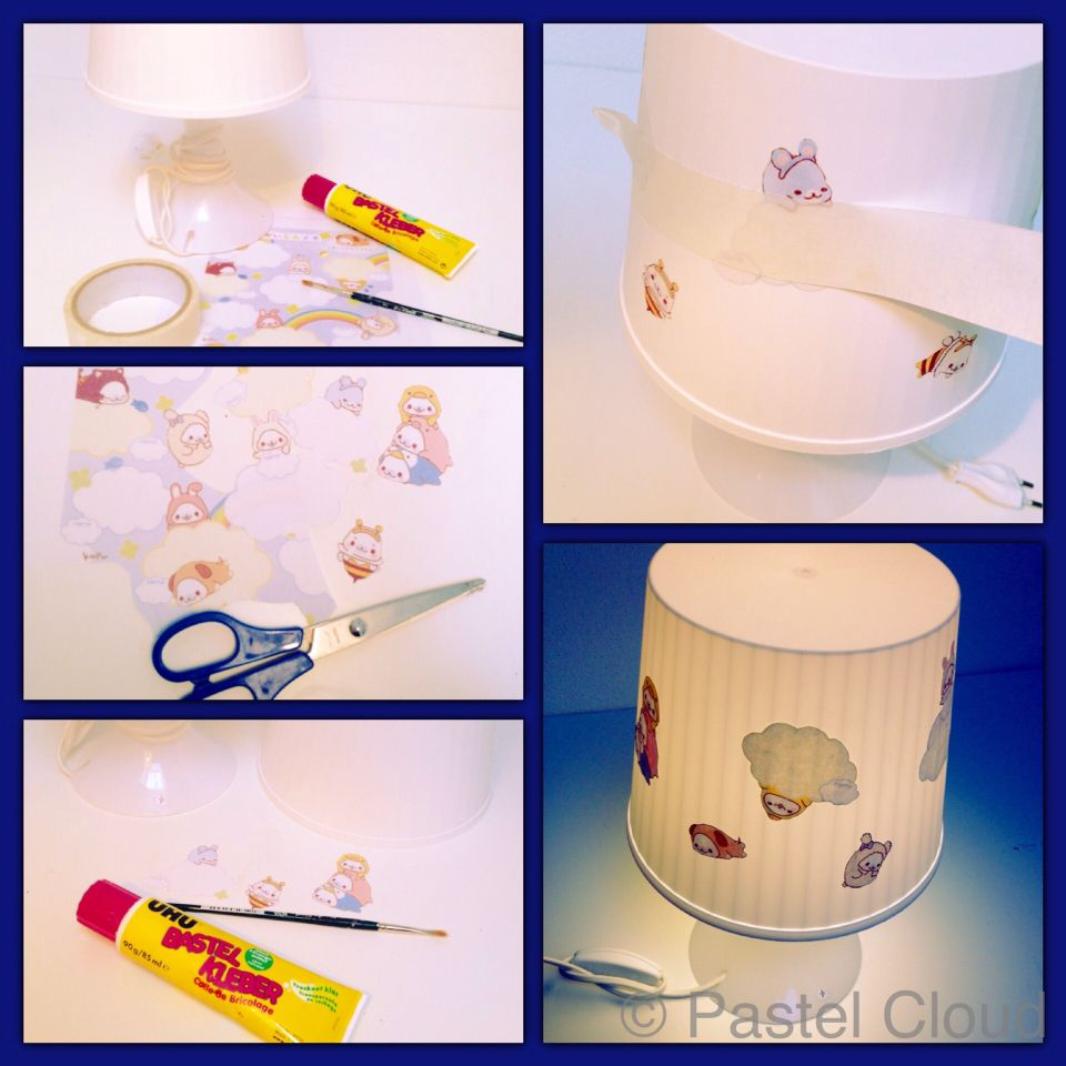 Make your own kawaii lamp  with just a couple of           non-expensive items ; 3