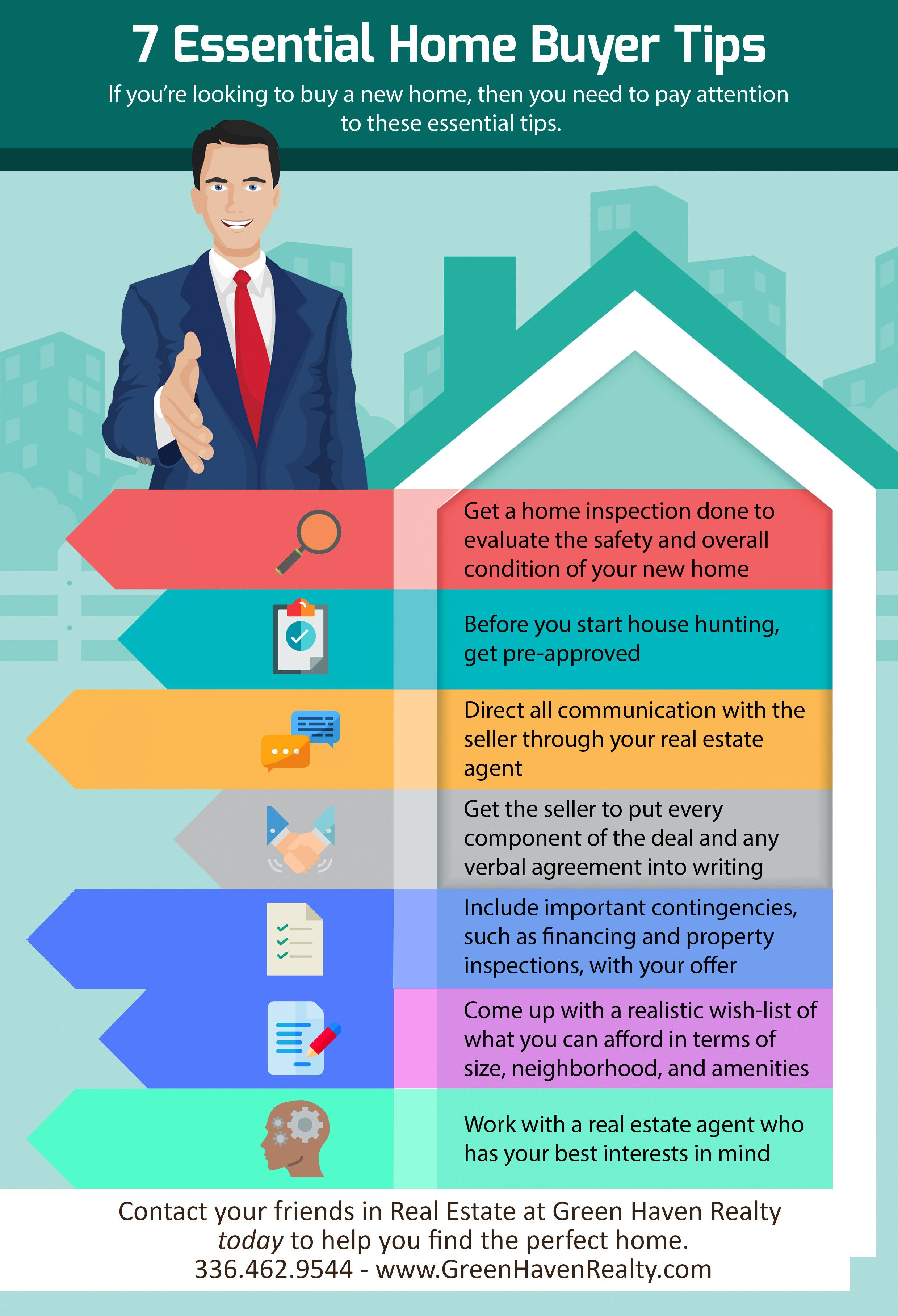 7 Essential Tips Every Home Buyer Should Know Home Buying Tips Mortgage Marketing First Time Home Buyers