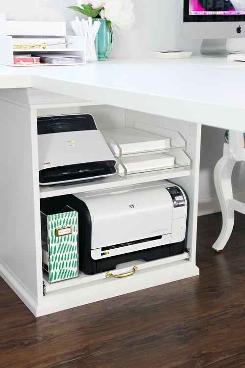 33 Ikea Stuva Printer Cart Hack Organisation Du Bureau Bureau A Domicile Et Rangement Imprimante