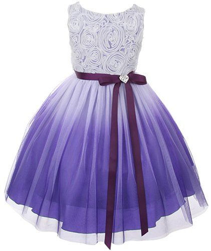 3aaf2cfeec2 Pin by Wanda Boone on clothes   Wedding dresses for girls, Purple ...