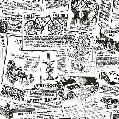 Wallpaper Sample Black White Nostalgic Vintage Ads Fondos Fondos