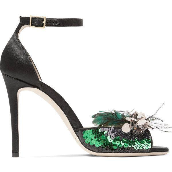 Jimmy Choo Embellished Satin Sandals clearance pick a best KdIRlDgX