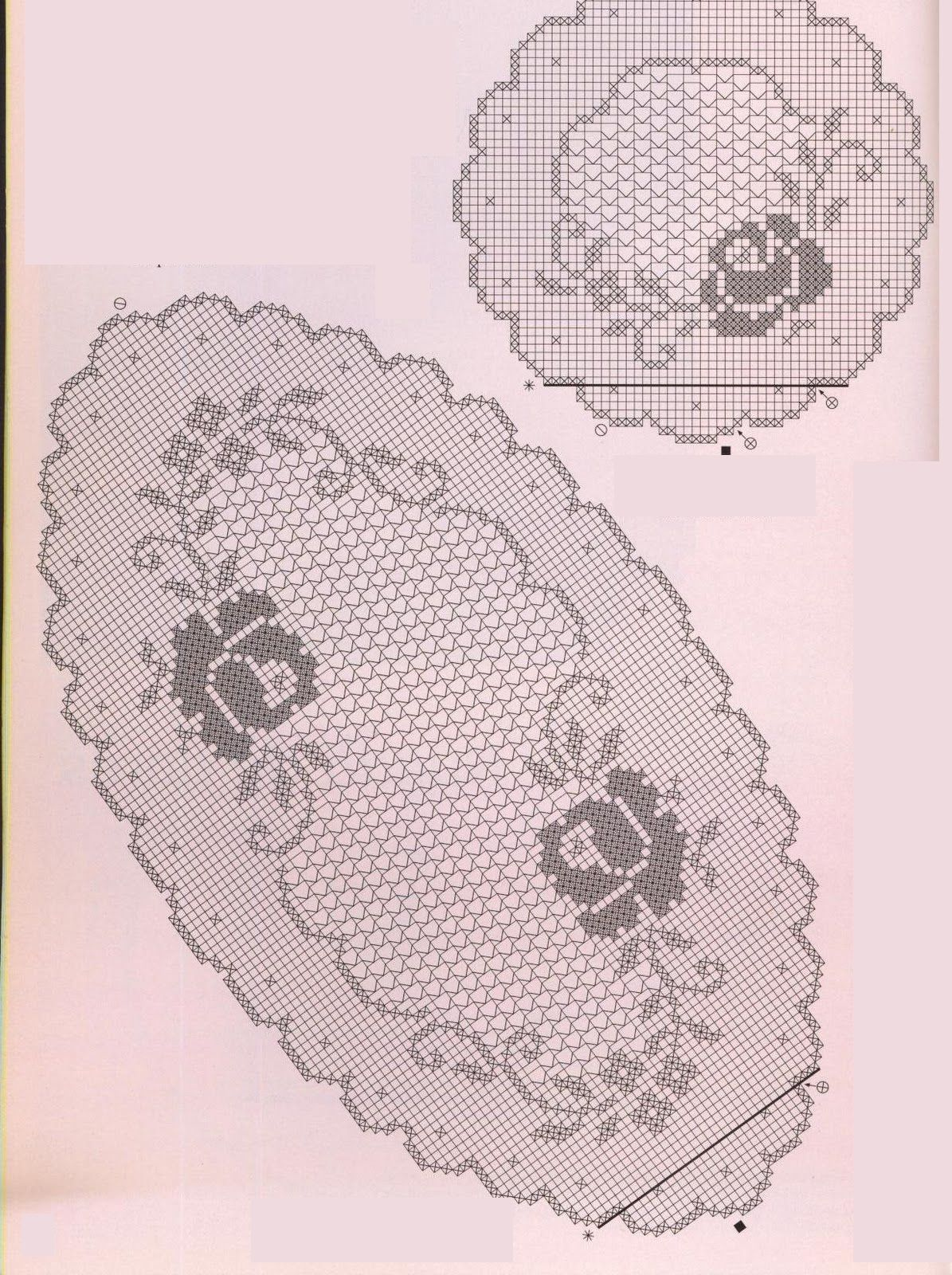 Pin By Linda Sammarco On Uncinetto Pinterest Crochet Filet Oval Doily Diagram Page 2 Of Pair Doilies