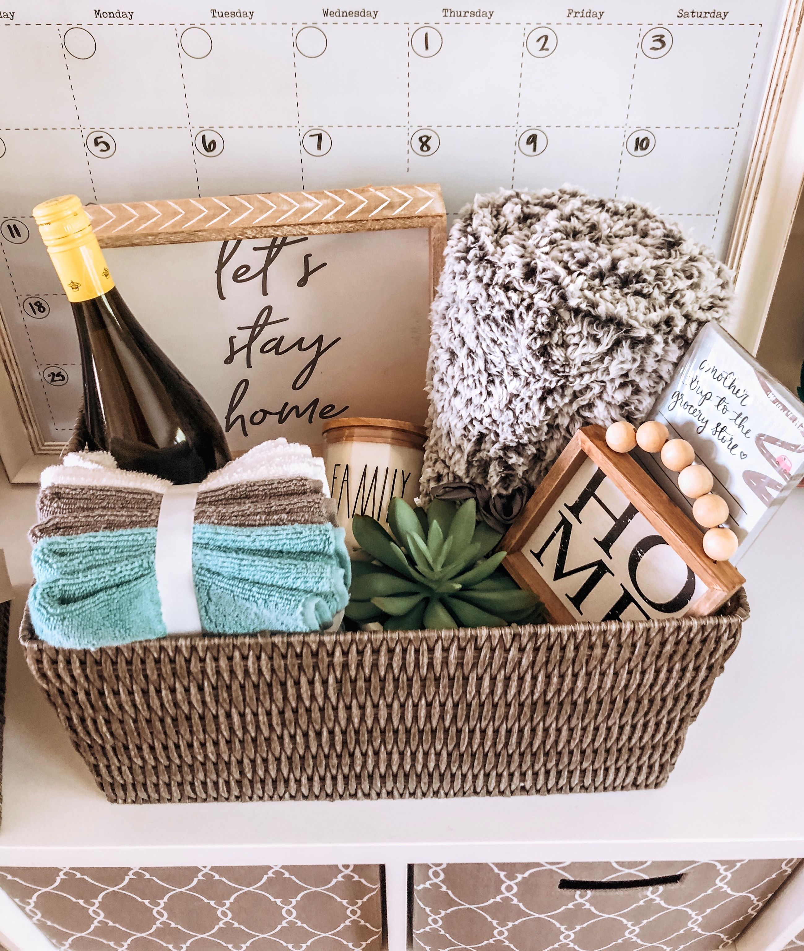 Closing gift real estate gift basket first time home
