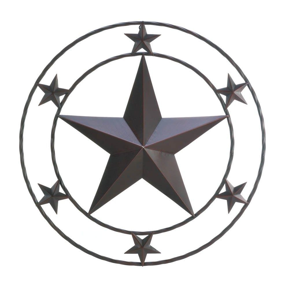 rustic metal texas star western wall decor - p&j home and garden