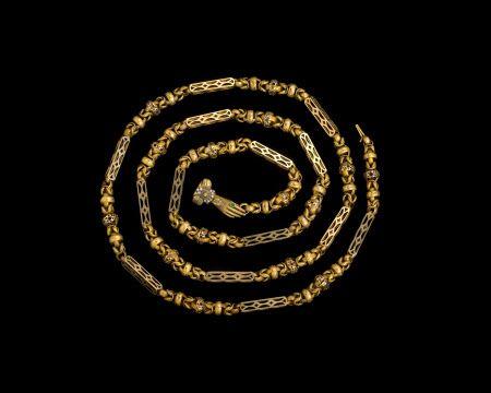 ca. 1830, Schmuckkette aus Gold, gehörte der Schauspielerin und Autorin Fanny Kemble