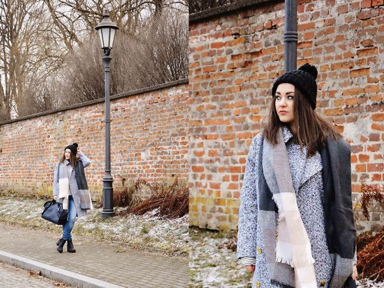 Get this look: http://lb.nu/look/7991838  More looks by Sispolitan Lach: http://lb.nu/sispolitan  Items in this look:  Tally Weijl Beanie, Top Secret Scarf, Yoins Coat, Zara Bag, H&M Shoes, H&M Jeans   #casual #classic #street #oversized #grey #coat #yoins #streetstyle #look