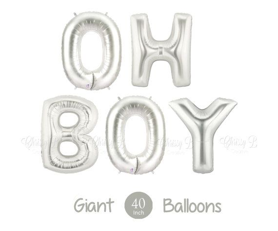 Giant Oh Boy Balloons   Inch Mylar Balloons In Letters