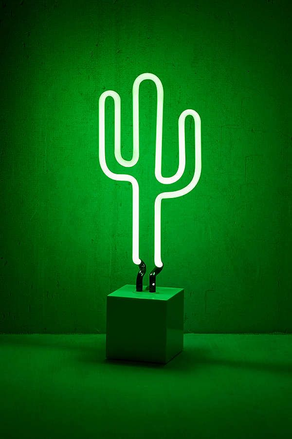 Neon Mfg Cactus Neon Sign Table Lamp Neon Signs Neon Cactus Neon Lamp