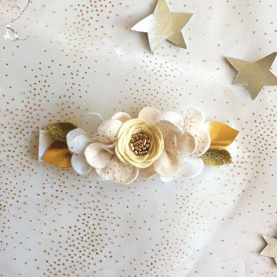 twinkle twinkle little star... // Felt Flower by fancyfreefinery