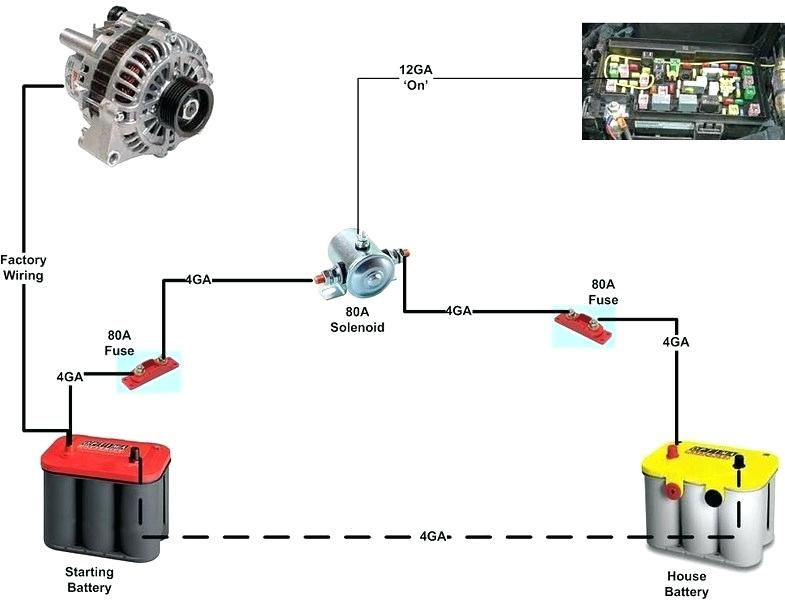 battery isolator wiring diagram  dual battery setup truck