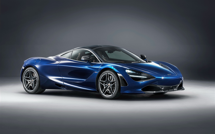 Download Wallpapers Mclaren 720s Coupe Mso 2018 Blue Sports Coupe