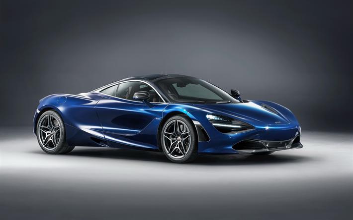 herunterladen hintergrundbild mclaren-720s coupe, mso, 2018, blau