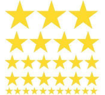 Set of 30 - Yellow Stars Vinyl Wall Graphic Decals Stickers DecalRocket, http://www.amazon.com/dp/B001I46HKE/ref=cm_sw_r_pi_dp_VIfRpb1XP2WFF