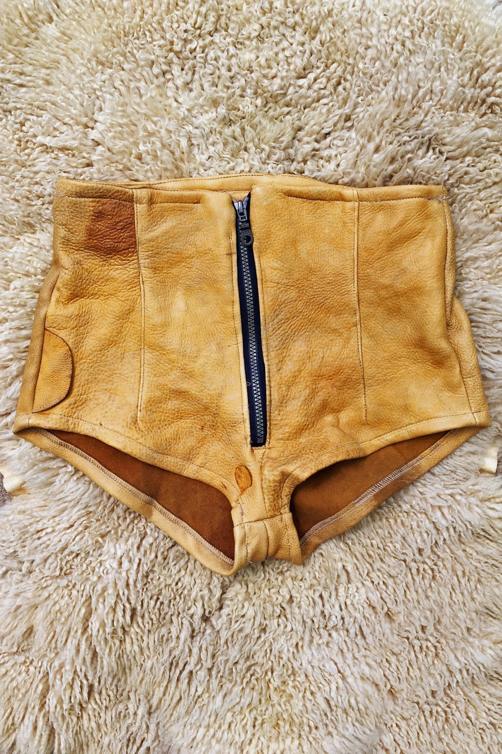 Lonesome Traveler Recycled Leather One Of A Kind Hot Shorts
