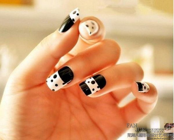 80+ Black And White Nail Designs - 80+ Black And White Nail Designs White Nail Art, White Nails And