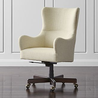 Liv Upholstered Wingback Office Chair Upholstered Office Chair Home Office Chairs Unique Office Chairs Upholstered desk chair with wheels