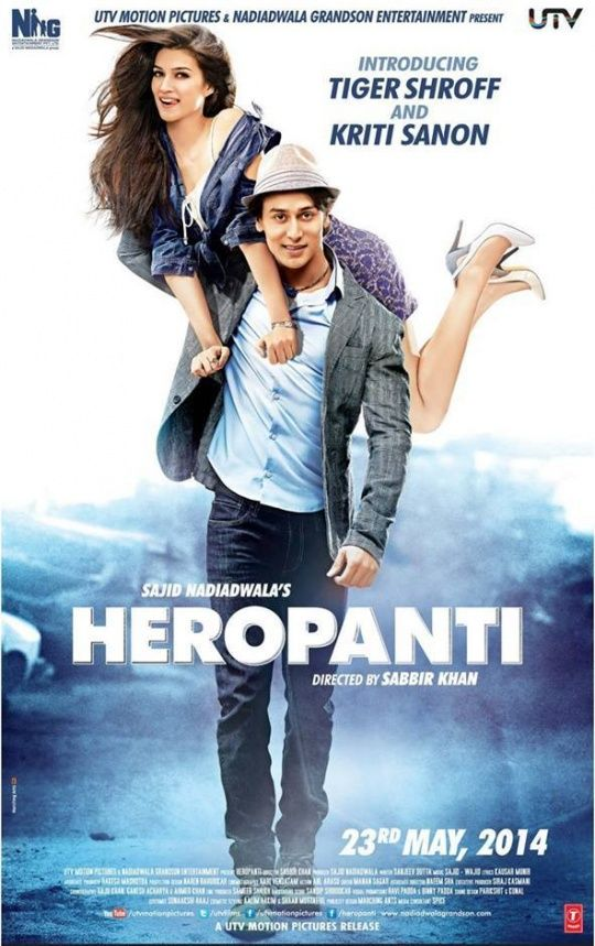 First Look: A Chiseled Tiger Shroff In Heropanti Movie Poster #Style #Bollywood #Fashion #Beauty