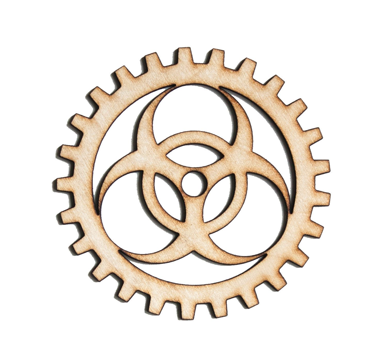 Plywood SteamPunk Gears, Craft Gears, Wood Gears, Laser Cut - 1qty ...
