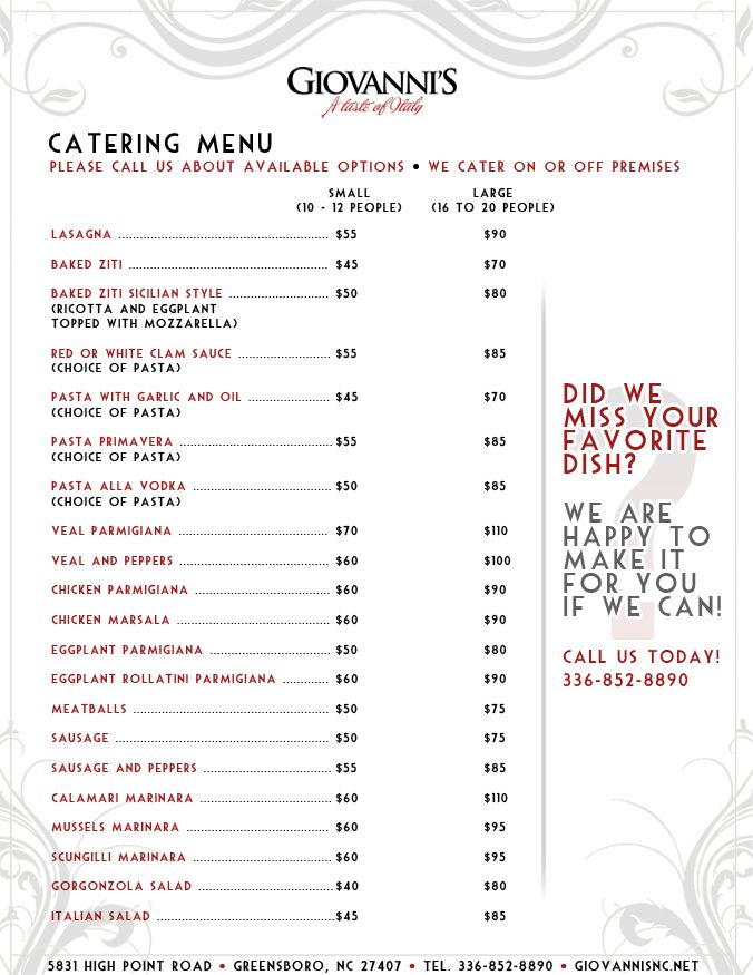 Catering Menu Ideas  Catering Menu  Catering