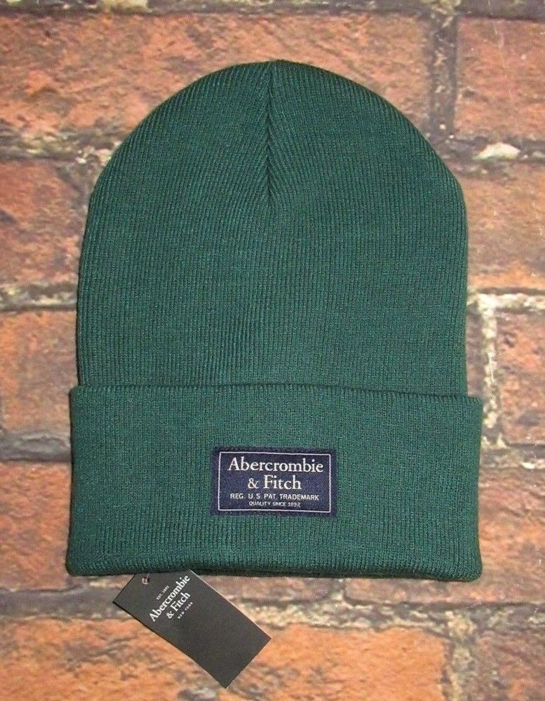 22427aa918ba2 MENS ABERCROMBIE   FITCH GREEN BEANIE HAT ONE SIZE  fashion  clothing   shoes